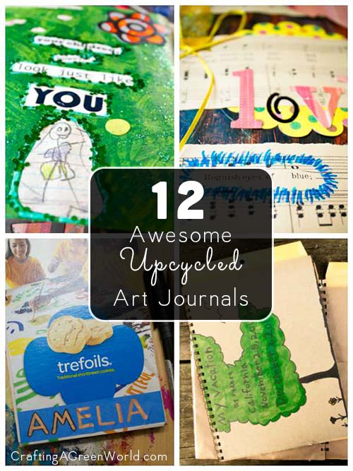 Get ready, Y'all, because upcycled art journals are my. New. THING!
