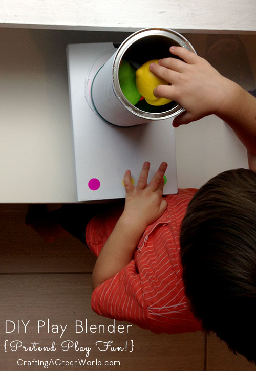 Turn an old coffee container into a DIY play blender for your kid's play kitchen. Then kick back, and watch the pretend play unfold!
