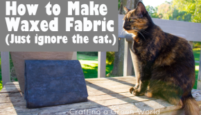 The process is simple, the results are natural (although NOT vegan), and when you're finished, you'll have a sturdy, water-resistant fabric that you can sew into whatever you like.