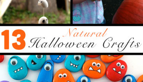 Forget the cheapo, store-bought decorations.Make these Halloween nature crafts with your kids instead!
