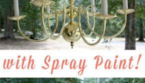 Here's how to spray paint an outdated chandelier to give it a fresh, modern look.