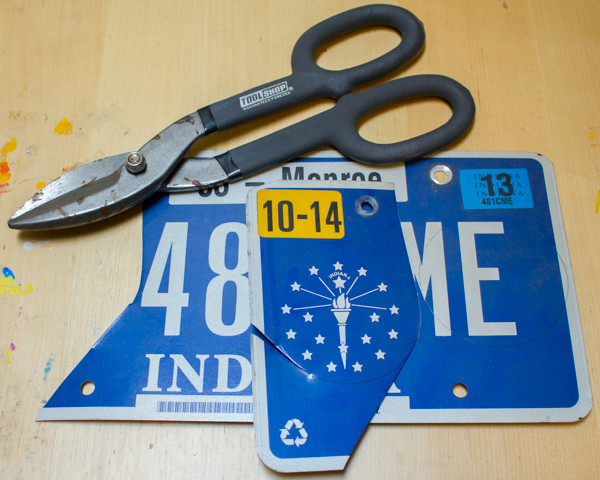 License Plate Gift Tags