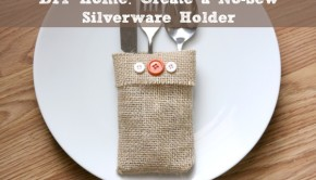 Hosting a dinner party? Wow your guests with burlap no-sew silverware holders!