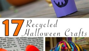 Here's my list of the best recycled Halloween crafts, ones you can make just from your recycling bin, the junk around your house, or a Freecycle search.