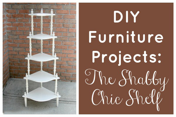 This shabby chic shelf makeover will save you money and is a great way to repurpose shelves you already own (or find at thrift stores and garage sales)!
