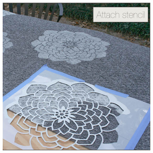 Here's how to stencil a rug, so you can turn a thrift store find or old decor piece into something totally cute and new!