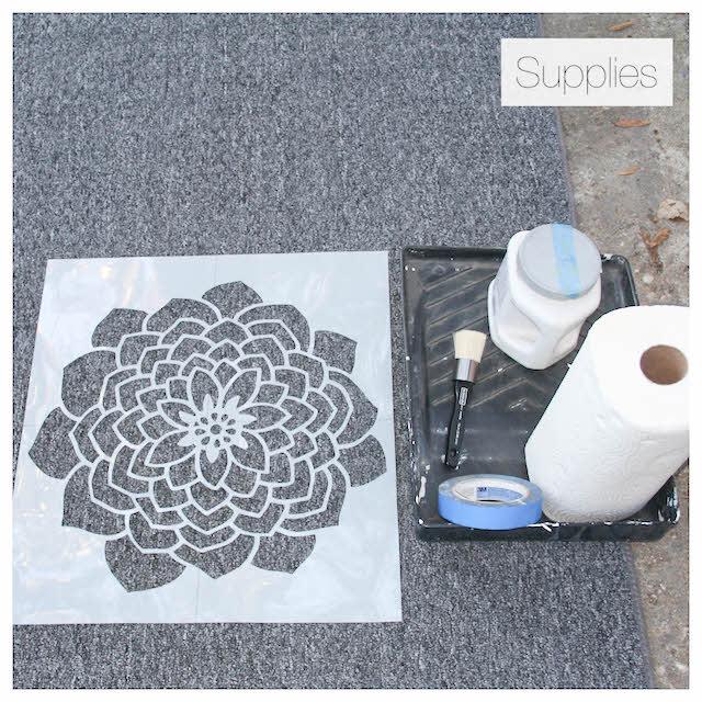 how to stencil a rug supplies