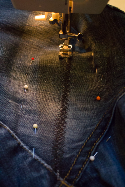 how to mend a rip in the thigh of your jeans