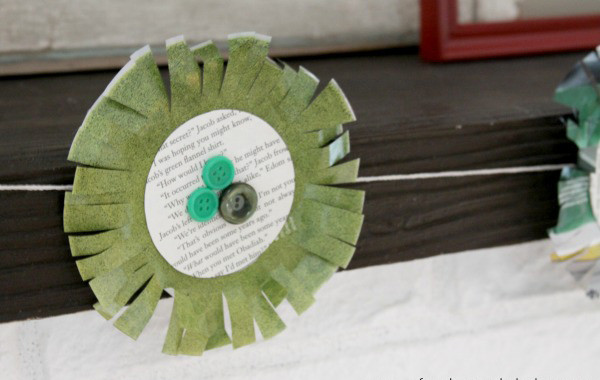 Looking for a St. Patrick's Day craft that isn't so shamrock-y? Try this recycled green St. Patrick's Day garland!