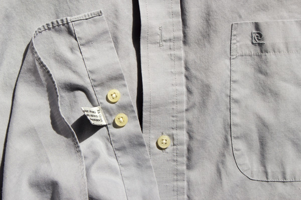 how to sew a button on a button-down shirt