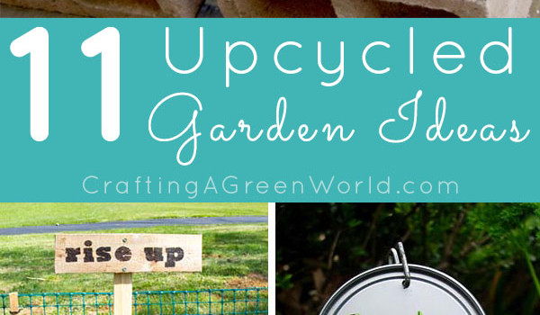 Bling your garden without breaking your budget or adding anything new to the waste stream with these upcycled garden decorations. Weekend project, anyone?