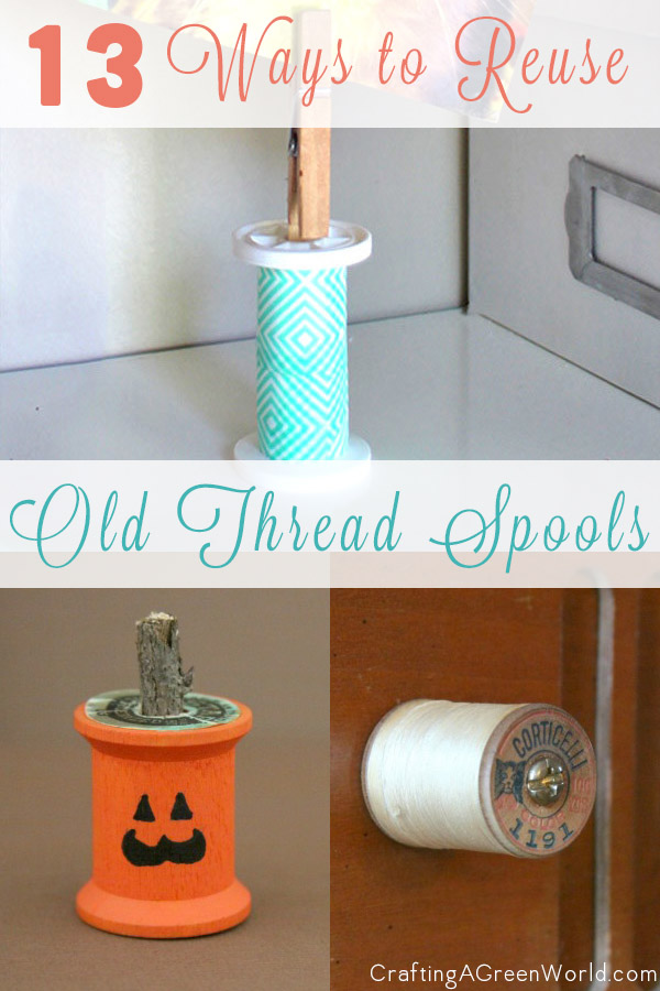 There are plenty of cute and even some practical ways to reuse spools of thread.
