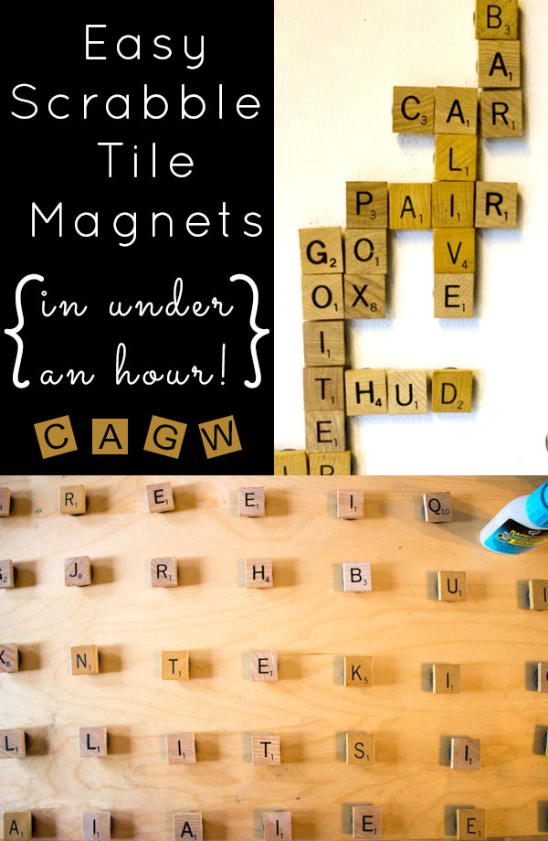Easy DIY Gifts: DIY Magnets: It takes less than an hour total to make these easy, DIY Scrabble tile magnets. They're strong enough to actually hold things on the fridge and won't fall apart.