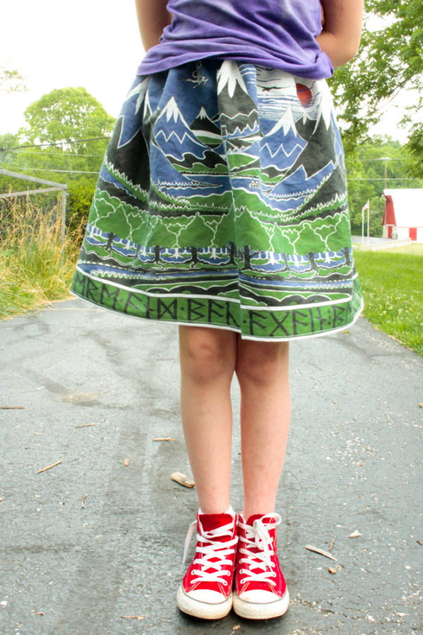 This simple, one-seam skirt is super easy to make from a single length of fabric.