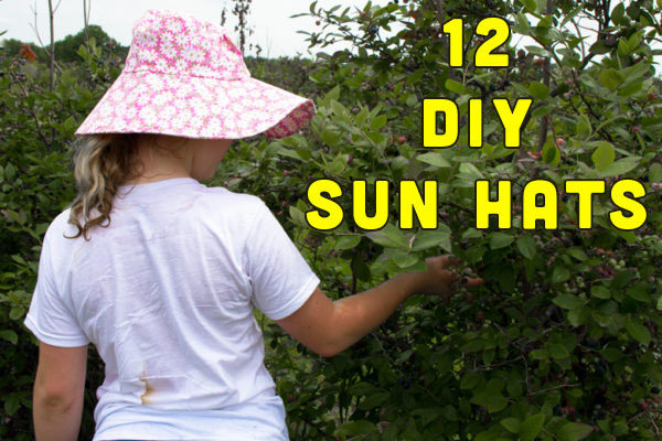 Looking to sew some summer sun hats? Check out this list of my favorite patterns and tutorials for all ages and sizes!