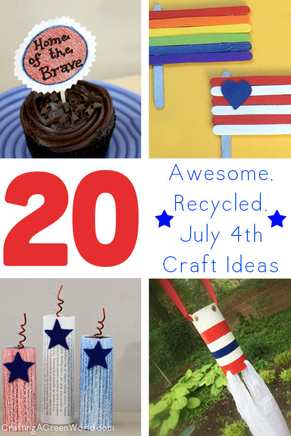 Bring out all of your red, white, and blue craft supplies--it's time to make some 4th of July crafts!