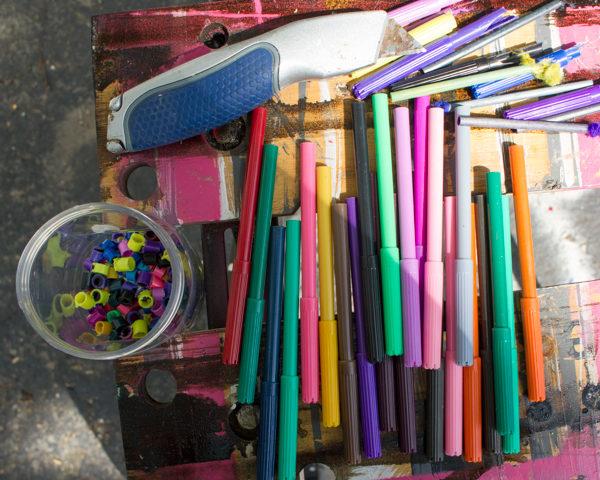 upcycled marker beads