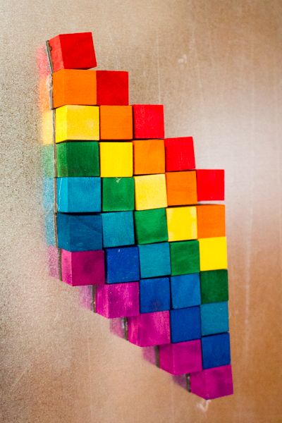 Hand-dye your own DIY magnetic mosaic kit. You can make it as big or small as you want in colors of your choice!