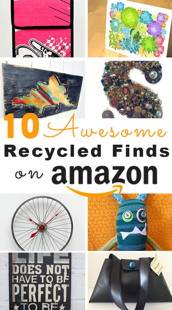 I dug into what's handmade on Amazon and found some really cool upcycled and recycled handmade products!