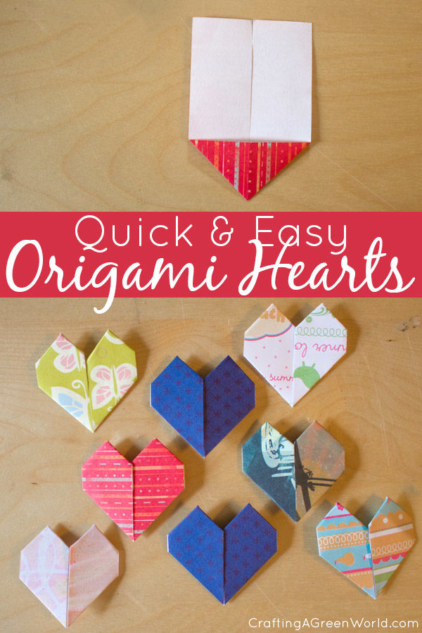 Make origami hearts with this quick and easy method. They're so simple to make that you'll have a pile of them before you know it!