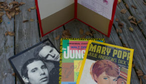 Cardboard Record Album Cover Crafts: Upcycled Folder from a Cardboard Record Album Cover