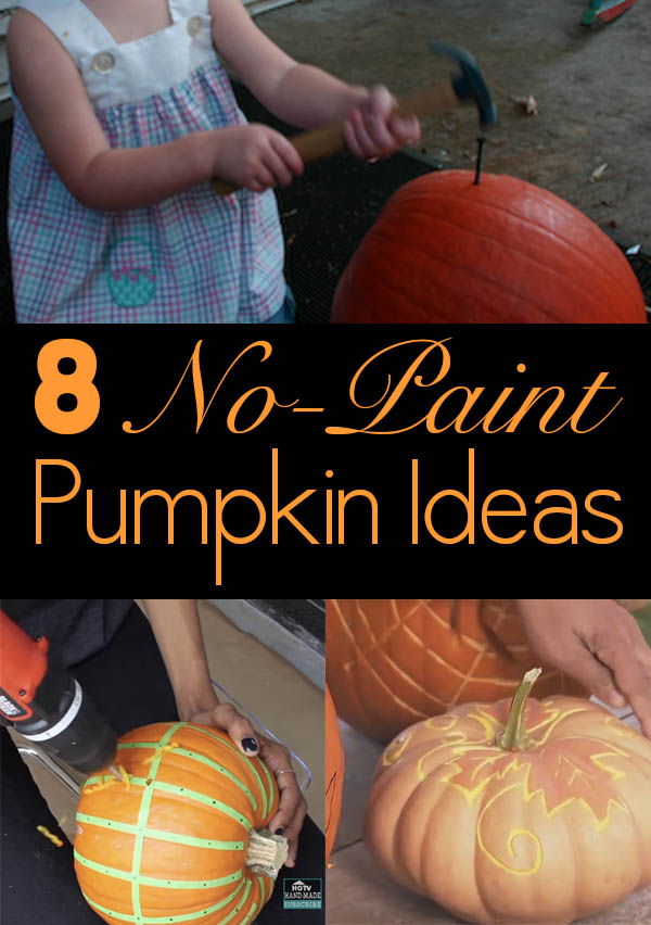 It's fall! And that means Halloween is coming! And that means it's time for pumpkin decorating ideas!