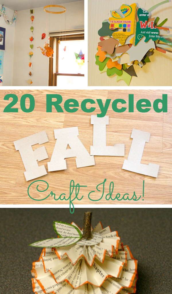Celebrate the change in seasons AND divert some trash from the waste stream with these great recycled autumn craft ideas.