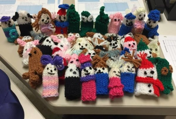 Knit finger puppets with your stash, and give the kids at the IWK Health Centre in Nova Scotia a fun distraction from medical procedures.