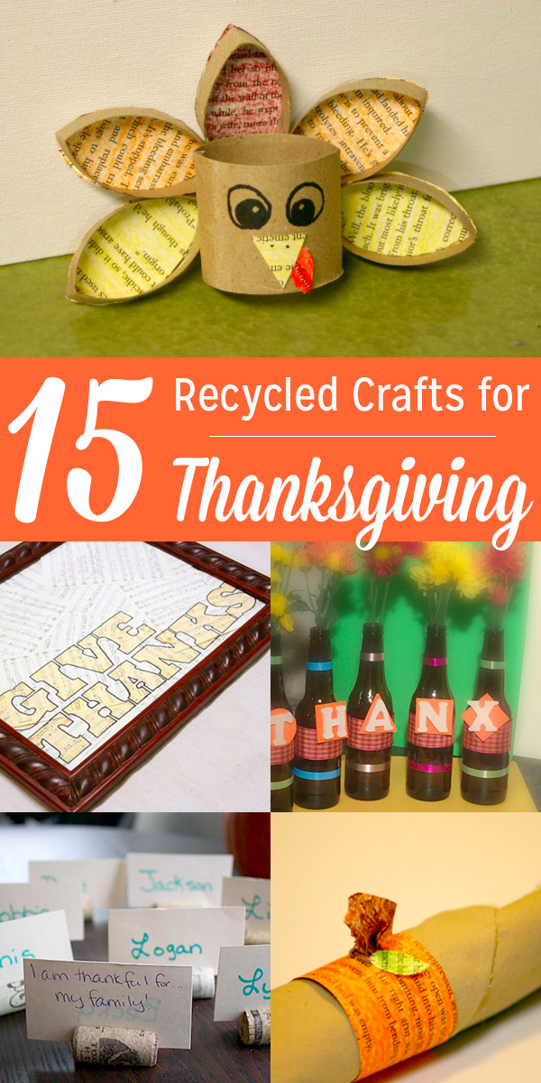 Save some cash and reduce your impact this Thanksgiving with these recycled Thanksgiving crafts!