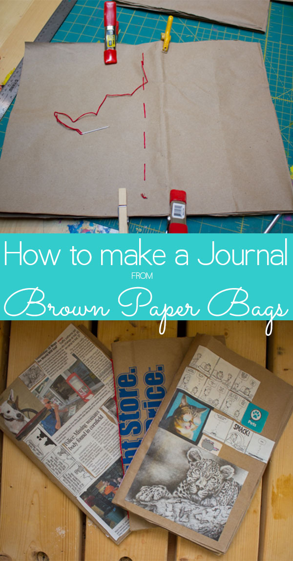 Here's what you need to make a brown paper bag journal for yourself!