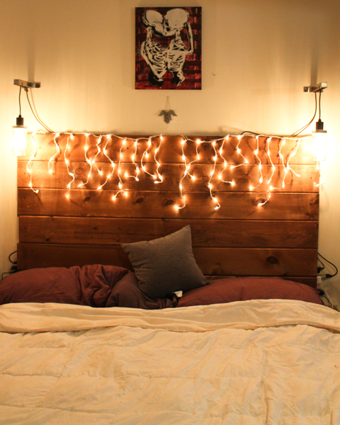 This is how we built our beautiful, DIY wooden headboard. I was able to get the look that I wanted in a single day for less than sixty dollars.