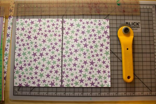 handmade scrapbook paper stationery