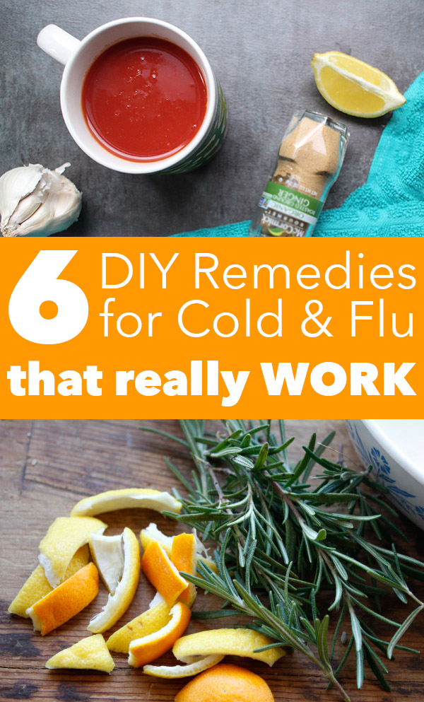 Tried-and-true, DIY natural cold and flu remedies to help you get well soon.