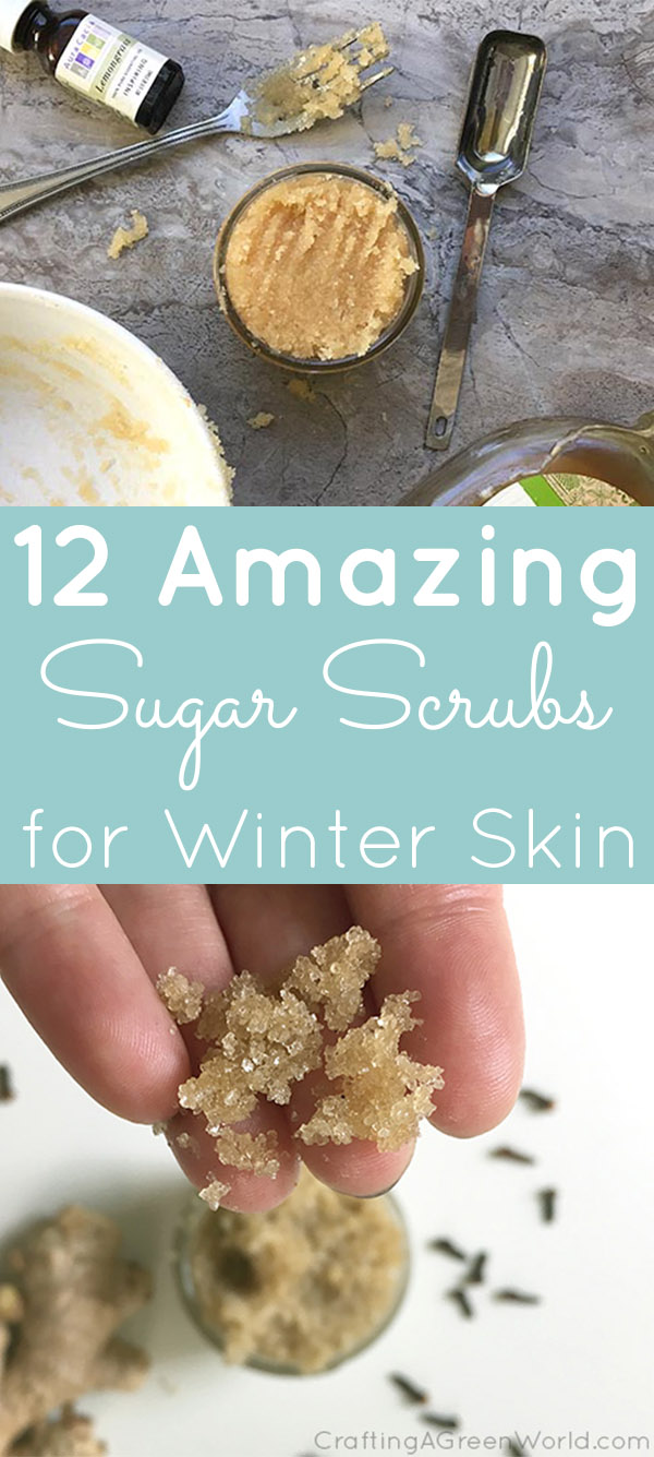 Treat yourself to some of these sugar scrub recipes for winter skin. The sugar and oils soften your skin while the scents improve your mood.