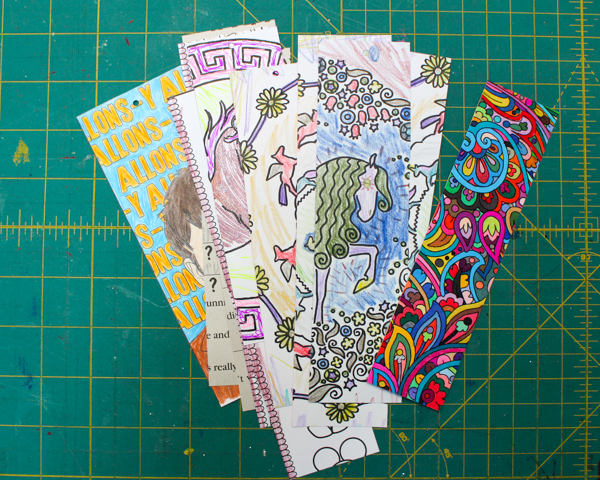 Coloring Book Page Bookmark