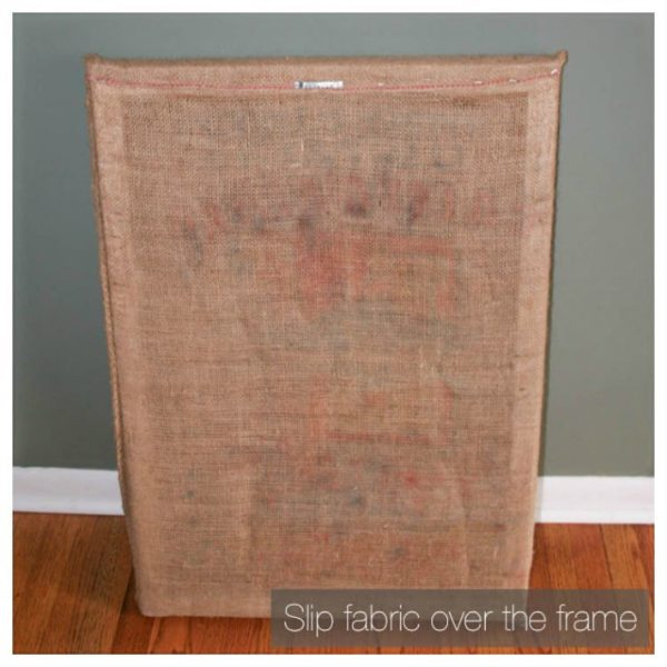 Old potato sacks or coffee sacks make lovely, simple, DIY wall art! Here's how I transformed some salvaged burlap sacks into display-worthy pieces.