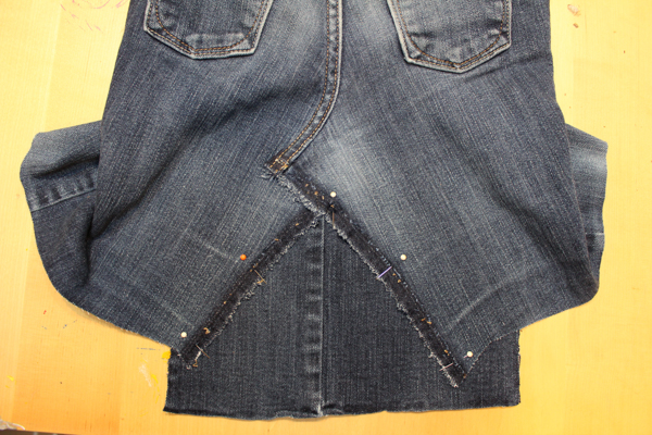 Upcycled Denim Skirt from Blue Jeans