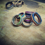 Rings Made from Skateboards image via Craftys