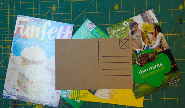 How to Make Food Packaging Postcards