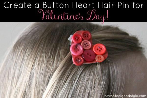 Button Hair Clip from a Cardboard Box