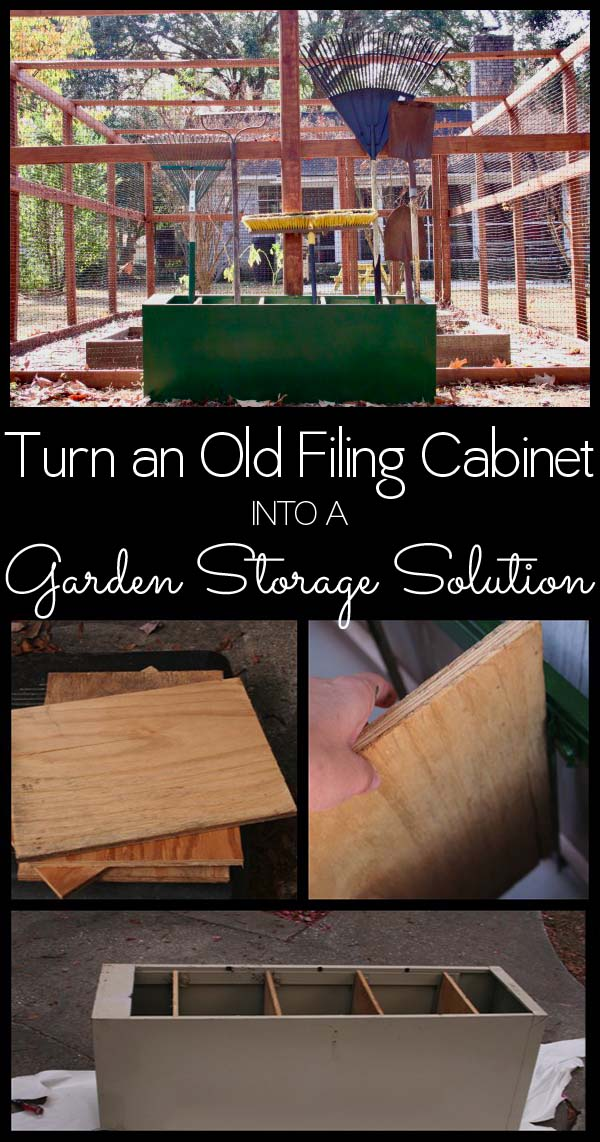Got an old filing cabinet that's ready for reuse? Here's how to turn it into DIY garden storage to wrangle tools, pots, and other gardening supplies.