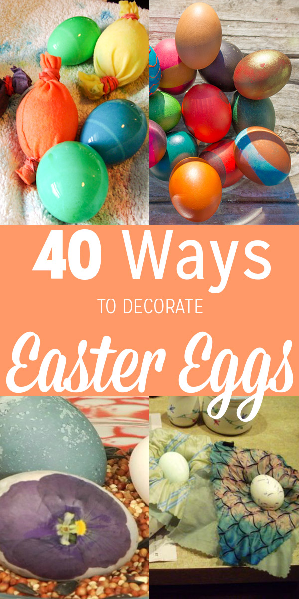 There are so many ways to decorate real Easter eggs! Here are 40 fun egg-painting, egg-dyeing, and other Easter egg decorating ideas for real eggs.