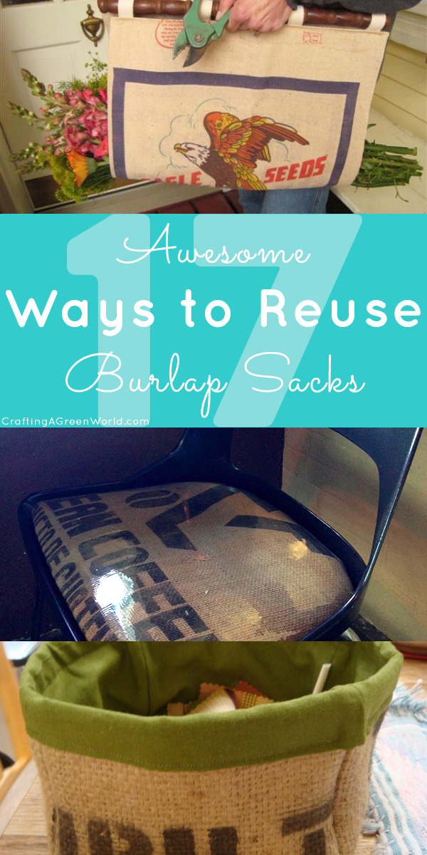 There are so many fun ways to reuse a burlap sack! Try out some of these creative burlap craft ideas.