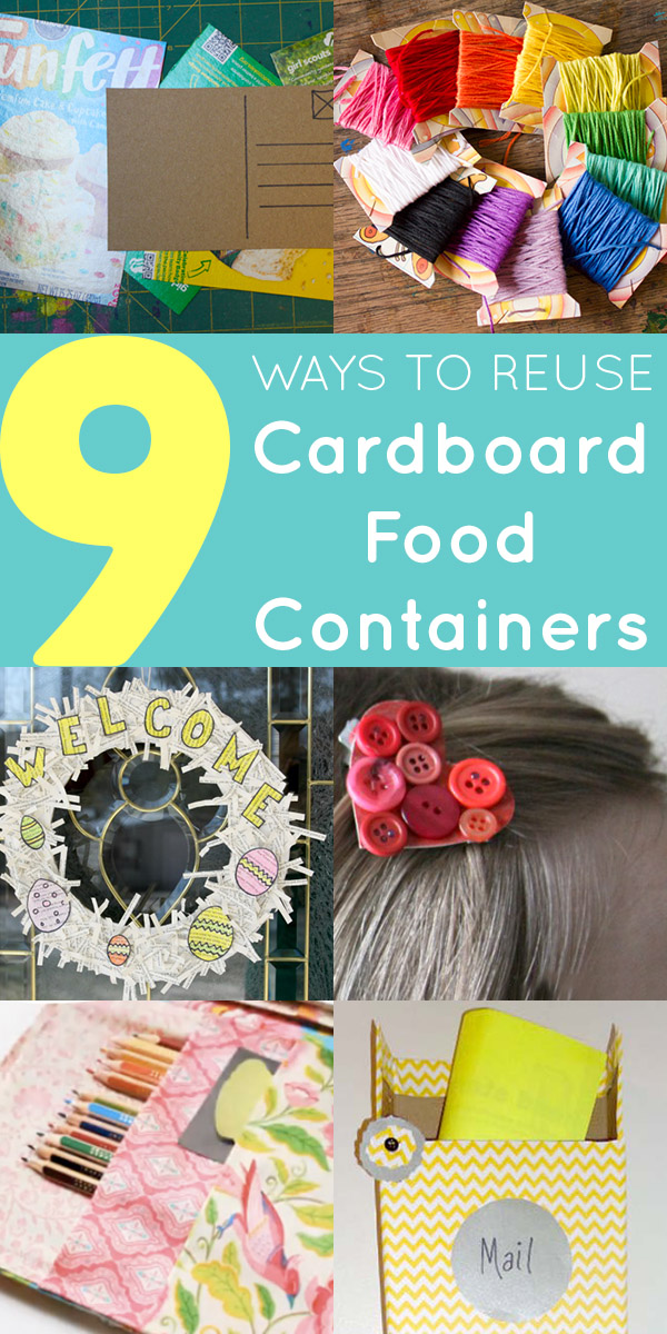 Raid your recycle bin, because there are lots of cool ways to reuse cardboard food containers!