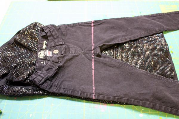 Refashion Pants into a Skirt