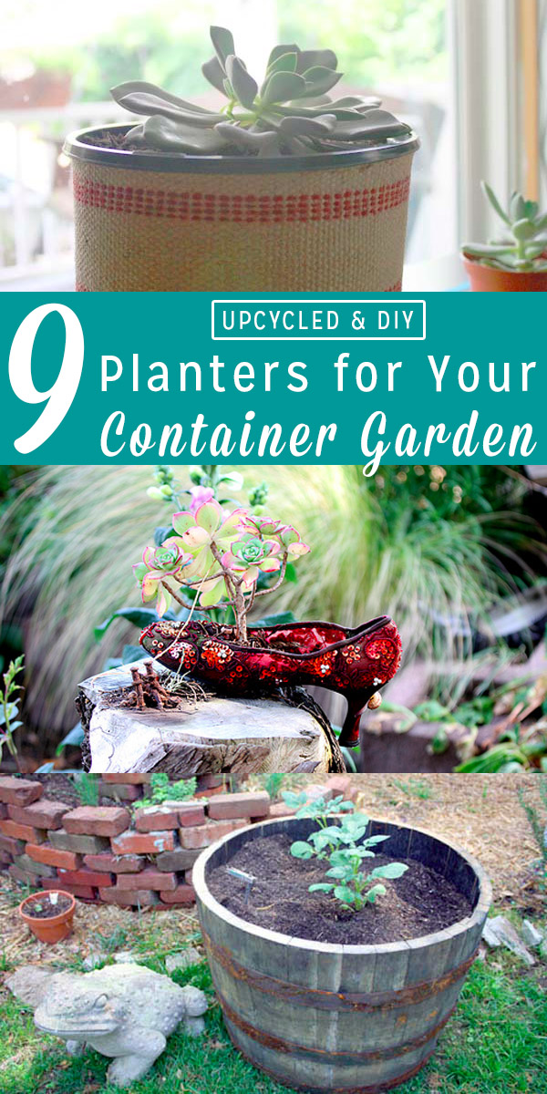 Whether you're growing food, succulents, or houseplants, you need something to put those babies in. These upcycled and DIY planters come in all different shapes and sizes, so you can choose what's best for your garden.