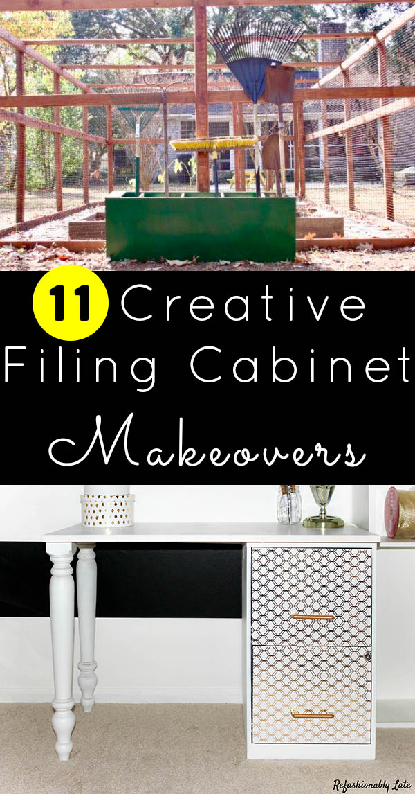 Got an old filing cabinet gathering dust in the garage? We've got a bunch of fun ideas for filing cabinet makeovers!