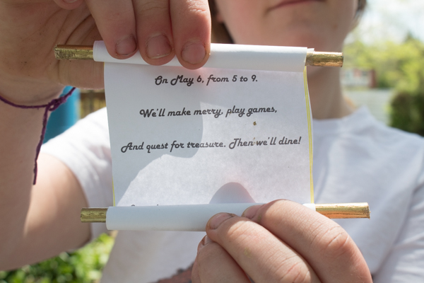 How to Make a Scroll Party Invitation