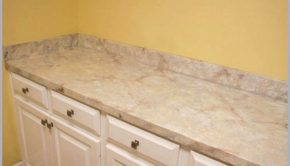 Try this cool technique to make laminate countertops look like granite, so you can have the modern look you want without ripping out your old countertops.