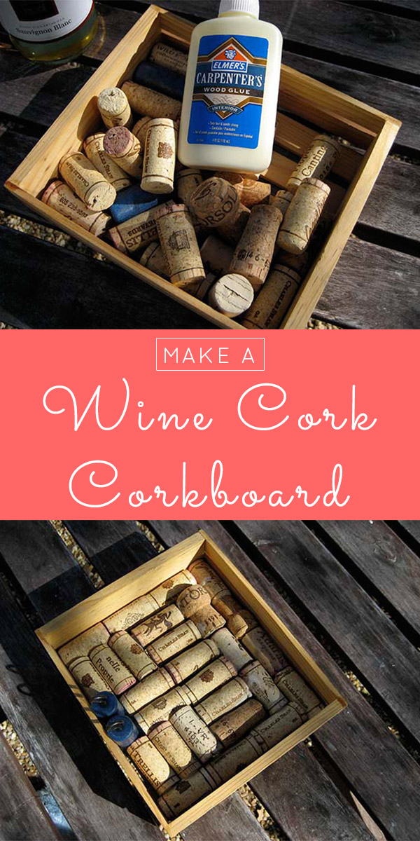 Start popping bottles, y'all. Here's how to make a cork boak board from wine corks! You only need three craft supplies to make it, and one of them is free!